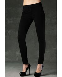 Hudson Jeans | Black Loulou Skinny Mid Rise Trouser | Lyst