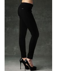 Hudson Jeans | Black Loulou Skinny Mid Rise Trouser | Lyst