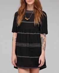 Ace & Jig | Black Button Mini Dress Batiste | Lyst