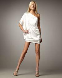 Aidan Mattox | White Caftan Cocktail Dress | Lyst