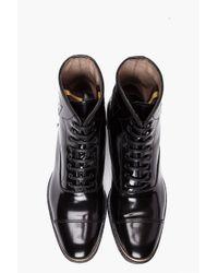 Alexander McQueen - Black Gold Tip Boots for Men - Lyst