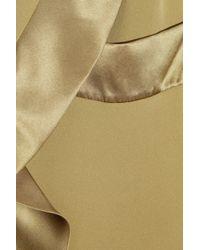 By Malene Birger - Green Elina Ruffled Silk Blouse - Lyst