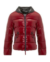 Duvetica | Red Hooded Zip Through Puffa Jacket for Men | Lyst