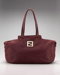 Fendi | Red Shimmer Chain-trim Satchel | Lyst