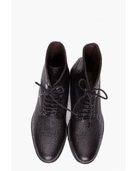 J.Lindeberg   Black Stivaletto Grained Boots for Men   Lyst
