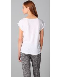 Juicy Couture | White Rolled Sleeve Flare Tee | Lyst