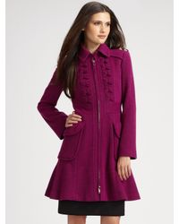 Nanette Lepore | Pink Provocative A-line Coat | Lyst