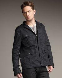 Rag & Bone | Black Sanwell Waxed Jacket for Men | Lyst