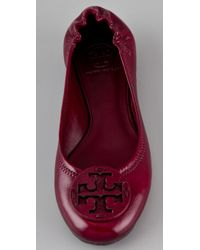 Tory Burch - Purple Reva Tonal Logo Flats - Lyst