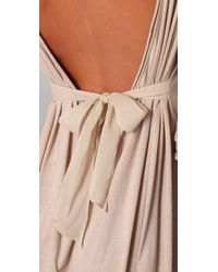 3.1 Phillip Lim | Natural Long Sleeve Tie Back Chemise | Lyst