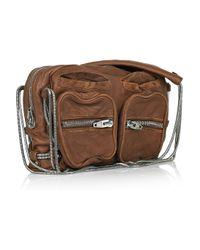 Alexander Wang | Brown Brenda Zip Chain Leather Bag | Lyst