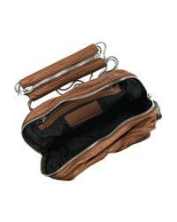 Alexander Wang - Brown Brenda Zip Chain Leather Bag - Lyst