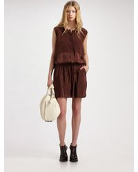 Alexander Wang - Brown Sleeveless Shirt Dress - Lyst