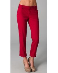 Alice + Olivia | Red Stacey Skinny Pants | Lyst