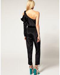 ASOS Collection - Blue Asos Petite Exclusive One Shoulder Jumpsuit - Lyst