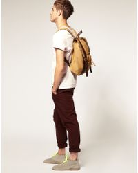 ASOS Collection | Yellow Asos Wolfgang Backpack for Men | Lyst
