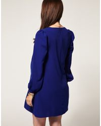 ASOS Collection - Blue Asos Maternity Shift Dress with Bell Sleeves - Lyst