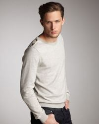 Burberry Brit | Gray Thermal-knit Shirt for Men | Lyst