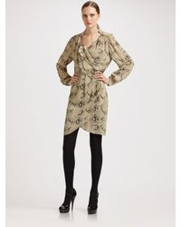 By Malene Birger | Natural Pazo Snake Print Wrap Dress | Lyst