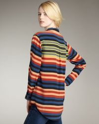 Equipment - Multicolor Daddy Striped Blouse - Lyst