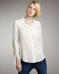 Equipment   White Harper Silk Blouse   Lyst