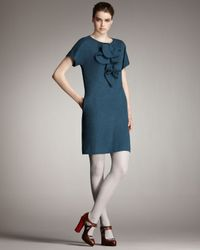 Fendi | Blue Removable-ruffle Dress | Lyst