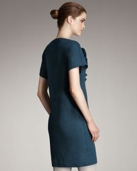 Fendi | Blue Removable-ruffle Dress | Lyst