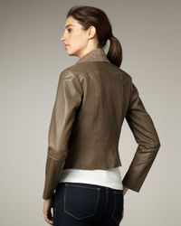 Graham & Spencer | Brown Draped Leather Jacket | Lyst