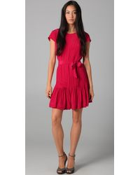 Gryphon | Red Pintuck Dress | Lyst