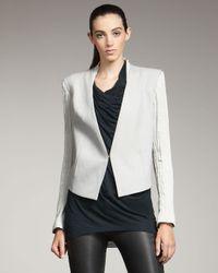 Helmut Lang | Gray Bi-fabric Tuxedo Blazer | Lyst