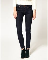 J Brand - Blue 811 Mid Rise Ankle Skinny Jean In Pure - Lyst