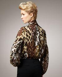 Kay Celine - Multicolor Animal-print Blouse - Lyst