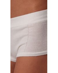 Kiki de Montparnasse | White Luxe Cashmere Boy Shorts | Lyst