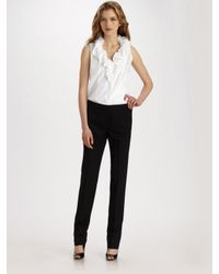 Lafayette 148 New York | White Ruffled Tessa Blouse | Lyst