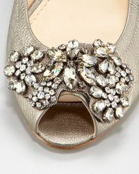 Vera Wang Lavender Natural Luna Jeweled Ballerina Flat