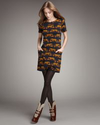Marc By Marc Jacobs | Brown Panther-print Knit Dress | Lyst