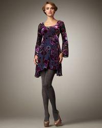 Nanette Lepore - Blue Dita Velvet Burnout Dress - Lyst