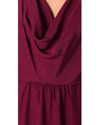 Parker - Purple Cowl Neck Dress - Lyst