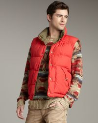 Polo Ralph Lauren Green Grafton Reversible Puffer Vest for men
