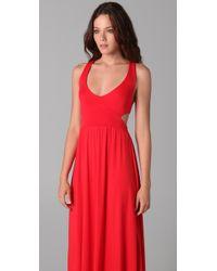Rachel Pally | Red Long Cutout Dress | Lyst