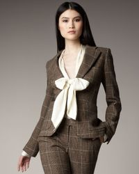Rachel Zoe - Brown Single-breasted Plaid Jacket - Lyst