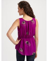 Rebecca Taylor | Purple Shadow Daisy Ruffle Cami | Lyst