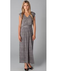 Rebecca Taylor | Gray Snake Print Maxi Dress | Lyst