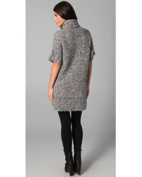 Rosel | Gray Boxy Sweater Dress | Lyst
