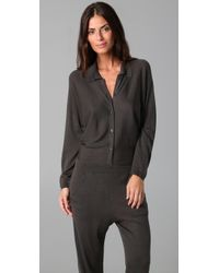 Rosel - Gray Aviator Jumpsuit - Lyst