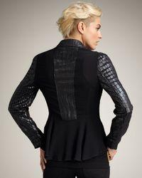 Royal Underground - Black Crocodile-embossed Faux-leather Jacket - Lyst