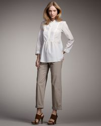 Theory | Natural Cropped Pants, Warm Cocoon | Lyst