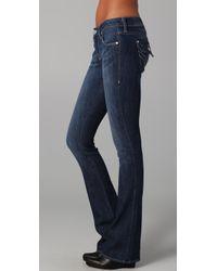 William Rast | Blue Tatum Boot Cut Jeans with Flap Pockets | Lyst
