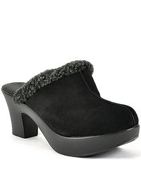 Cordani | Dream Clog - Black Suede and Shearling Clog | Lyst