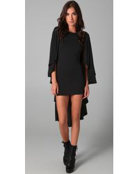 Holy Tee - Black Gotham Dress with Cape Overlay - Lyst